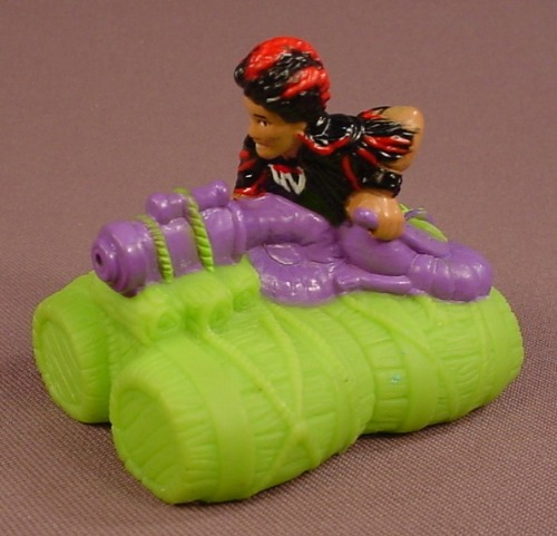 Disney Aladdin Jafar On A Barrel Raft Water Squirter Toy, 2 3/4 Inches Long, 1991 McDonalds