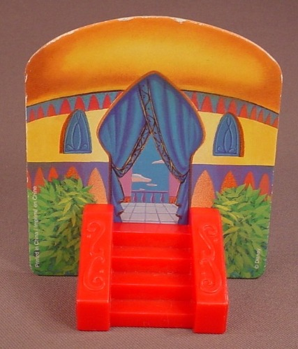 Disney Aladdin Backdrop For A Maitre D Genie Figure, 1996 McDonalds