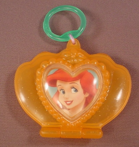 Disney The Little Mermaid Compact Toy, 3 1/4 Inches Wide, 2006 McDonalds