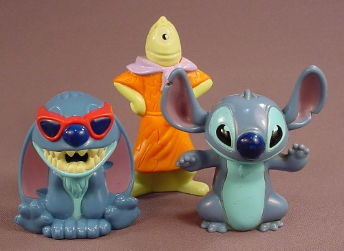 Disney Lilo & Stitch Set Of 3 Play Doh Figures, The Tallest Is 4 Inches, 2004 McDonalds