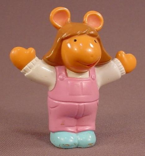 Arthur Little Sister DW PVC Figure, 2 1/2 Inches Tall, 1997 Hasbro, PBS TV Show, Marc Brown