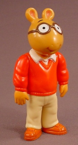 Arthur Poseable PVC Figure, 4 Inches Tall, 1996 Hasbro, PBS TV Show, Marc Brown, Action Figure