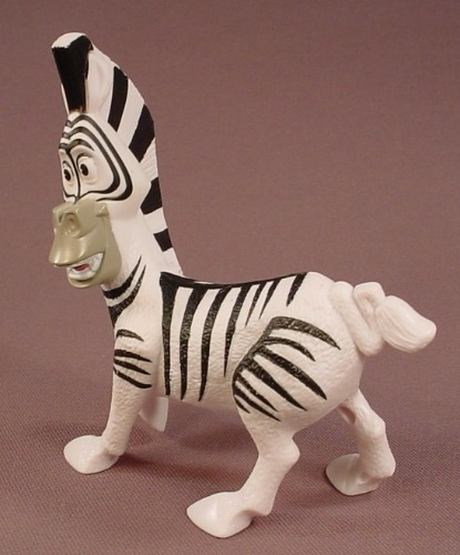Madagascar Talking Marty The Zebra Figure Toy, 4 1/4 Inches Tall, 2008 McDonalds