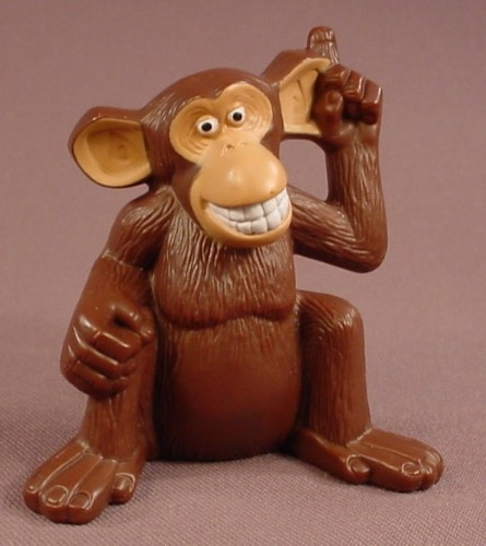 Madagascar Talking Mason The Monkey Figure Toy, 3 Inches Tall, 2008 McDonalds, Has An On Off Switch