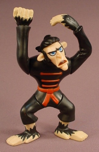 Disney Kim Possible Monkey Fist Figure Toy, 5 Inches Tall, 2003 McDonalds
