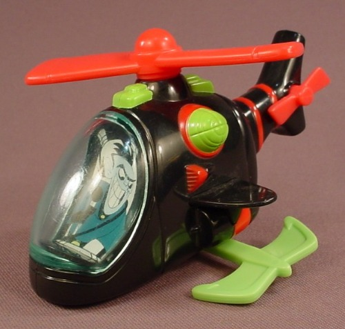Disney Kim Possible Draken's Helicopter Toy, 4 3/4 Inches Tall, 2003 McDonalds