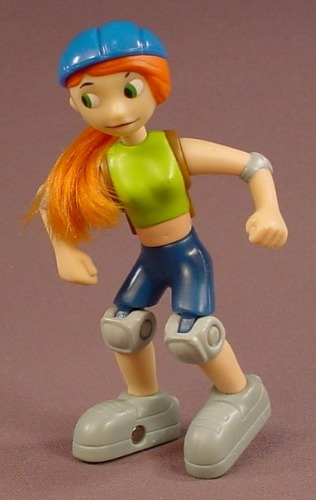 Disney Kim Possible Action Figure With Rollerblades Or In-Line Skates, 4 1/4 Inches Tall