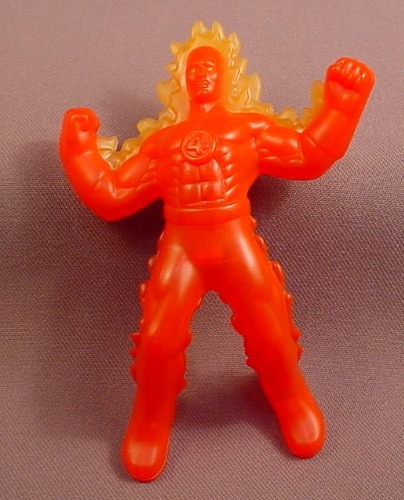 Marvel Heroes The Human Torch Figure, 4 1/2 Inches Tall, 2010 McDonalds