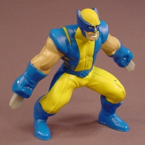 Marvel Heroes Wolverine With Retractable Claws Figure, 4 Inches Tall, 2010 McDonalds