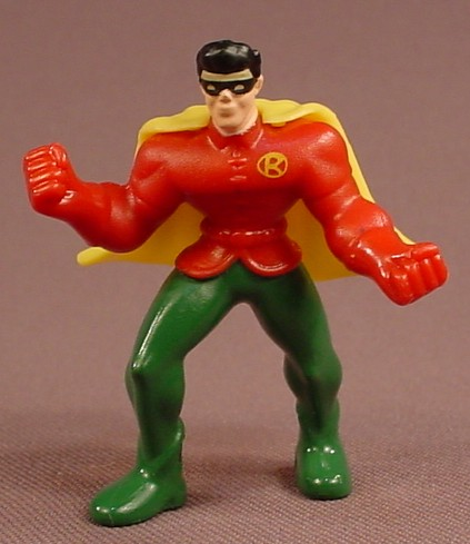 Batman The Brave & The Bold Robin With A Yellow Cape Figure, 2 Inches Tall, 2011 McDonalds