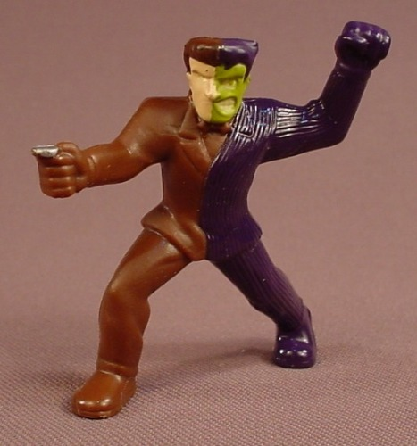 Batman The Brave & The Bold Two Face With A Coin Figure, 2 Inches Tall, 2011 McDonalds