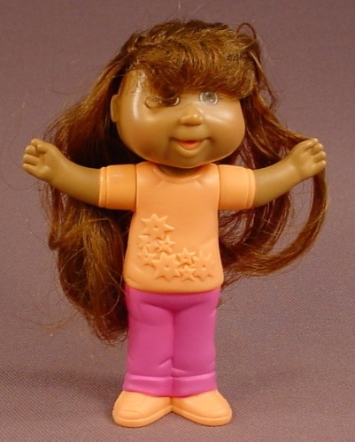 Cabbage Patch Kids Destiny Eva Doll Figure, 3 3/4 Inches Tall, 2007 Burger King, The Head Swivels
