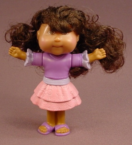 Cabbage Patch Kids Megan Aubrey Doll Figure, 3 3/4 Inches Tall, 2007 Burger King, The Head Swivels