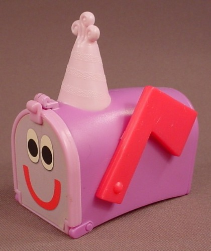 Blue's Clues Mailbox Figure Toy, 3 Inches Long, 1998 Subway, The Door Opens