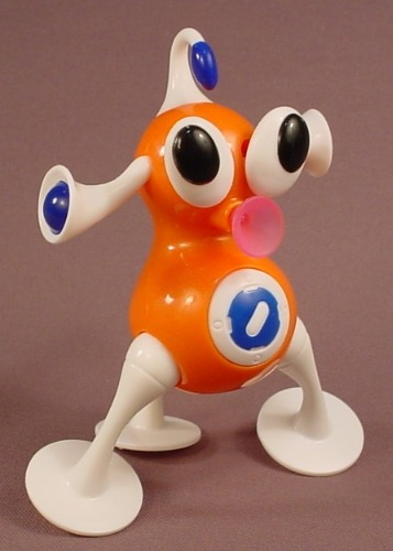 McDonalds 2006 Orange Iz Zizzle Light Up Figure Toy, 5 Inches Tall, Has An On Off Switch