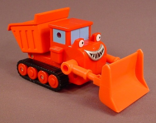 Bob The Builder Muck Vehicle With A Friction Motor, 6 Inches Long, As It Rolls The Bucket Tips