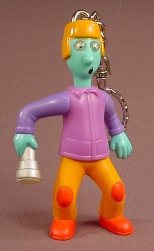 Disney Doug's First Movie Quailman With Glow In The Dark Flashlight Keychain Figure Toy, 4 Inches