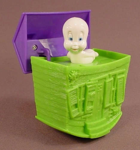 Casper The Friendly Ghost Wind Up Haunted House Toy, 2001 Wendy's Restaurant
