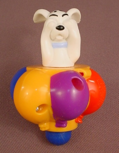 McDonalds 101 Dalmatians Dog In An Orange Top With Different Color Balloons, 102