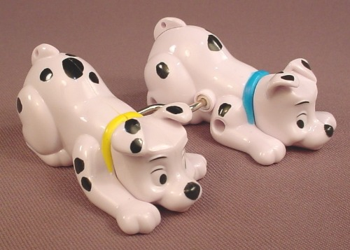 McDonalds 101 Dalmatians 2 Wind Up Dogs That Walk Side By Side, 102