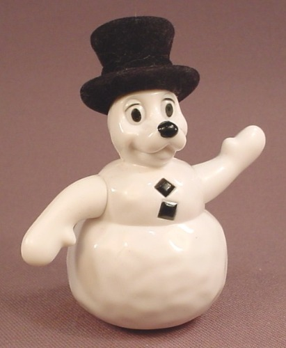 McDonalds 101 Dalmatians Dog Snowman Figure With A Fuzzy Top Hat, 102