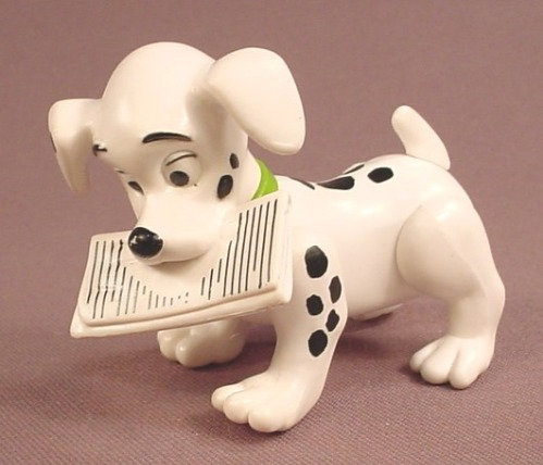 McDonalds 101 Dalmatians Dog With A Newspaper In It's Mouth, The Head Swivels, 102