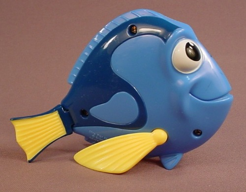 Disney Finding Nemo Pixar Pals Dory Fish Figure Toy, 2005 McDonalds, 4 Inches Tall, The Fins Move