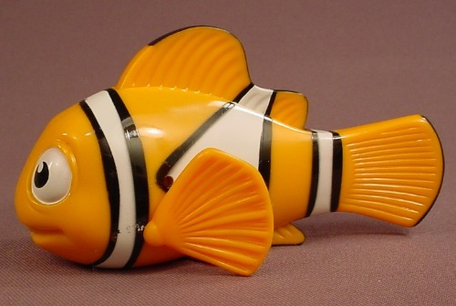 Disney Finding Nemo Clown Fish Figure Toy, 2003 McDonalds, Press The Dorsal Fin To Make Him Laugh
