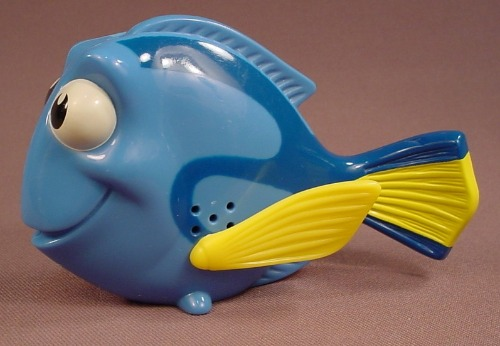 Disney Finding Nemo Fish Figure Toy, 2003 McDonalds, 3 Inches Tall, Makes A Singing Sound