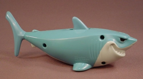 Disney Finding Nemo Bruce The Shark Figure Toy, 2003 McDonalds, 6 1/4 Inches Long, Eyes Lights Up