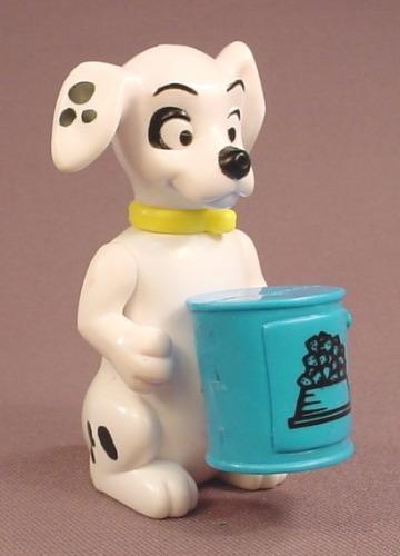 McDonalds 101 Dalmatians Dog With A Blue Bucket Of Dog Food, The Head Swivels, 102