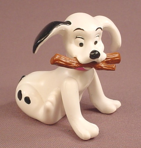 McDonalds 101 Dalmatians Dog With A Stick In It's Mouth, The Head Swivels, 102