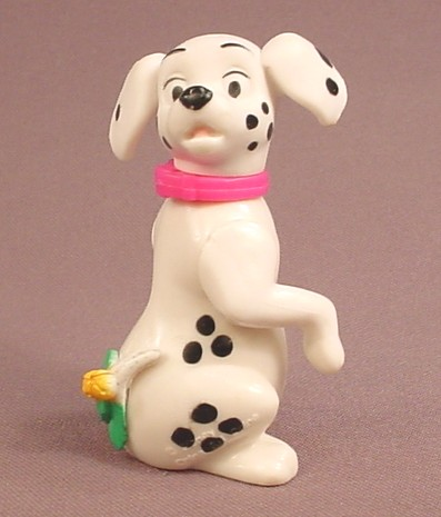 McDonalds 101 Dalmatians Dog With Mistletoe On His Tail, The Head Swivels, 102