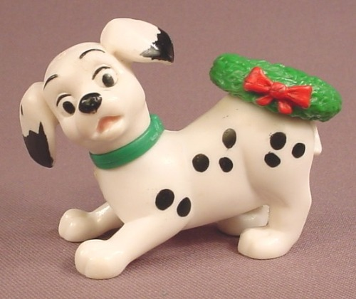 McDonalds 101 Dalmatians Dog With A Green Wreath On It's Rump, The Head Swivels, 102