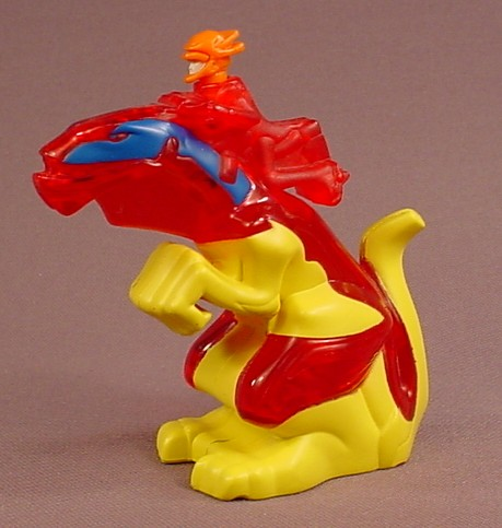 McDonalds 2006 Dragon Booster Sparkk And Ferno Light Up Figure Toy With An On Off Switch