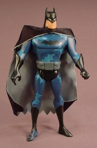 Batman Action Figure With Cape, 4 3/4 Inches Tall, From A Batman & Nightwing 2 Pack