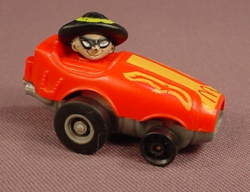 McDonalds 1985 Fast Macs Hamgurglar In A Red Hot Rod Car With A Pull Back Motor, Ertl Fastmacs