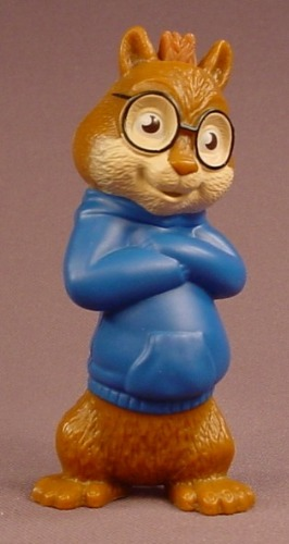 Alvin & The Chipmunks The Squeakuel Simon Singing Figure, 3 1/2 Inches Tall, 2010 McDonalds