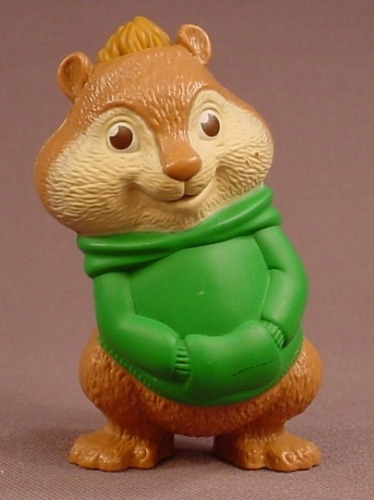Alvin & The Chipmunks The Squeakuel Theodore Talking Figure, 3 Inches Tall, 2010 McDonalds