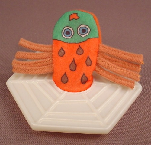 Eric Carle The Very Busy Spider Finger Puppet Toy, 3 1/4 Inches Wide, 1996 McDonalds