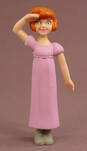 Disney Peter Pan Wendy PVC Figure, 3 1/8 Inches Tall, 2002 McDonalds,