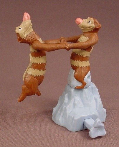 Ice Age 2 The Meltdown Eddie & Crash Dancing Possums, 3 3/4 Inches Tall, 2005 Burger King