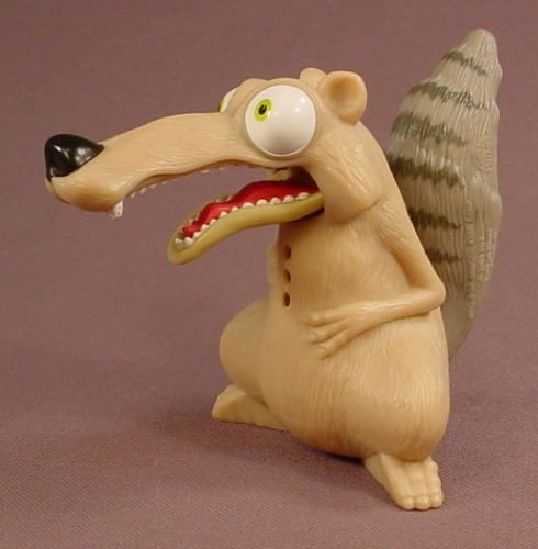 Ice Age 2 The Meltdown Silly Scrat Squirrel Figure Toy, 3 3/4 Inches Tall, 2005 Burger King