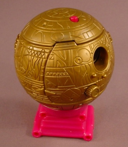 Disney Treasure Planet Complete Treasure Ball With The Stand, 2002 McDonalds, Has All The Pieces