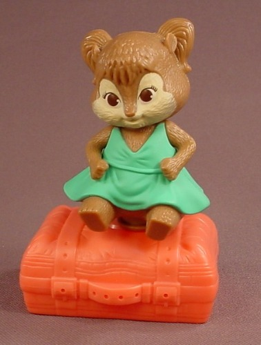 Alvin & The Chipmunks Chipwrecked Eleanor On An Ejector Seat Suitcase, 3 5/8 Inches Tall
