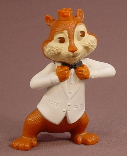 Alvin & The Chipmunks Chipwrecked After Hours Alvin Figure In A Tuxedo, 3 1/2 Inches Tall