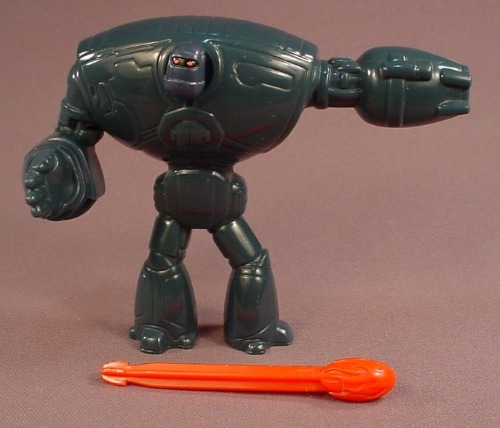 Astro Boy The Movie Peacekeeper Robot Figure With Firing Missile Arm, 4 1/4 Inches Tall, 2009