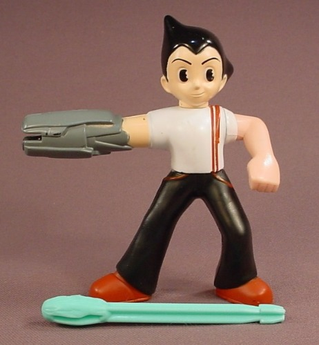 Astro Boy The Movie Figure With A Missile Launcher Arm, 4 1/4 Inches Tall, 2009 McDonalds