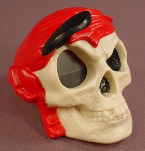 Disney Pirates Of The Caribbean Magic 8 Ball Style Skull Toy, 2006 McDonalds