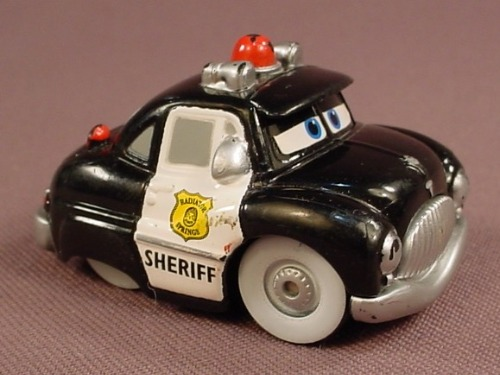Disney Pixar Cars Movie Mini Adventures Radiator Springs Sheriff Police Car With Whitewall Tires